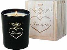 Personalisierte Kerze Valentinstag mit Geschenkbox