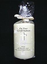 Personalisierte Konfirmation Kerze mit ihren besonderen Botschaf