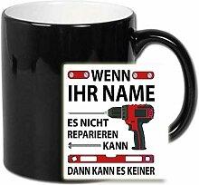 Personalisierte Magic Tasse Schwarz zb. mit Lewin