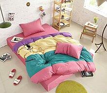Personalisierte Modefarbe Baumwolle Eine Vierköpfige Familie Bettwäsche,Greengrass-1.2