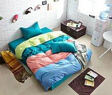 Personalisierte Modefarbe Baumwolle Eine Vierköpfige Familie Bettwäsche,Hermyth-1.2