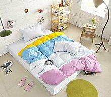 Personalisierte Modefarbe Baumwolle Eine Vierköpfige Familie Bettwäsche,Summeraroma-1.2