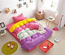Personalisierte Modefarbe Baumwolle Eine Vierköpfige Familie Bettwäsche,Princessoulola-1.2