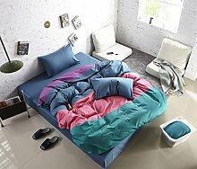 Personalisierte Modefarbe Baumwolle Eine Vierköpfige Familie Bettwäsche,Mygirl-1.8