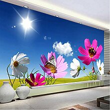 Personalisierte Tapete Foto Wandbeläge Rosa Sonne