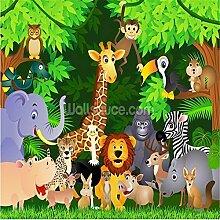 Personalisierte Tapete, Tiere Im Dschungel,