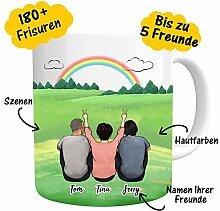 Personalisierte Tasse mit Namen & Rückenfigur zum