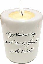 Personalisierte Valentine 's Day Kerzenhalter–Keramik Geschenkidee für jeden Partner am Valentinstag.