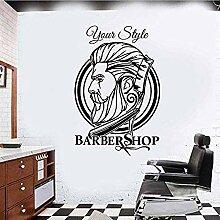 Personalisierte Wandkunst Aufkleber für Friseure