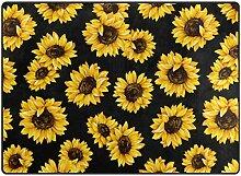 Personalisierte weiche Fußmatte Schöne gelbe