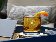 Personalisierte Whisky-Glas Bräutigamen,
