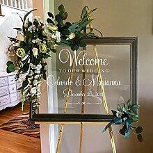 Personalisierte Willkommensschild Hochzeit