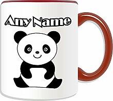 Personalisierter Geschenk-sitzender Panda Becher Cub, Tier-Design, verschiedene Farben) Nachricht/Name Das einzigartige Becher auf, keramik, ro