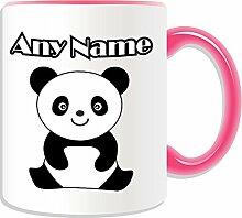 Personalisierter Geschenk-sitzender Panda Becher Cub, Tier-Design, verschiedene Farben) Nachricht/Name Das einzigartige Becher auf, keramik, rose