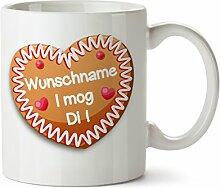 Personalisierter Kaffeebecher weiß Motiv