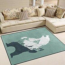 Personalisierter Teppich für Wohnzimmer