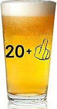 Personalisiertes 20+ ein Mittelfinger-Weinglas zum