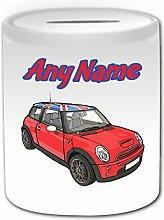 Personalisiertes Geschenk–Rot Mini Cooper