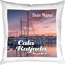 Personalisiertes Kissen mit Cala Ratjada Foto und