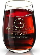 Personalisiertes Luxus-Weinglas mit 24 Karat Gold,