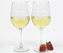 Personalisiertes Weinglas für Hochzeitsparty,
