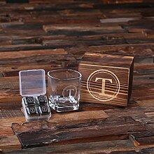 Personalisiertes Whiskey und Scotch Glasset mit