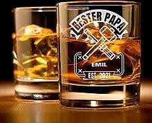 Personalisiertes Whisky-Glas mit Gravur für den
