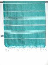 """Pestemal Peshtemal Hamamtuch Sultan Version smaragd-grün von """"my Hamam"""" Badetuch Saunatuch Handtuch Yogadecke Baby-Wickeltuch, Stola 100%Baumwolle, Cotton,Turkish Hamam Towel, sauna towel"""