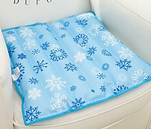 Pet Mat All-Inclusive Büro Sanitär Kissen Sommer Eis Matte Kissen Polster Auto Eis Pad 36 * 36 cm Blau Schneeflocke