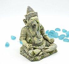 Pet Online Landschaftsbau Dekoration Aquarium Dekoration Aquarium Dekoration Crawler Box Simulation Buddha Statue wie Gott sitzt wie relief Dekoration, Elefant Statue, 1,5 * 10 * 16,5 cm