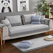 Pet sofa deckel,europ?ische Sofa Abdeckung Sessel deckt Schnittsofa deckt Sessel hussen Sectional sofa deckt Haustier couch abdeckungen für m?bel-Graue Streifen 90x120cm(35x47inch)