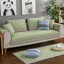 Pet sofa deckel,europ?ische Sofa Abdeckung Sessel deckt Schnittsofa deckt Sessel hussen Sectional sofa deckt Haustier couch abdeckungen für m?bel-Grün 45x45cm(18x18inch)
