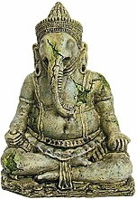 Pet Ting Ancient Statue der Gottheit Ganesha Aquatic–Aquarium Dekoration Ornament–Vivarium Dekoration