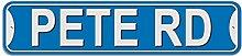 Pete Schild–Kunststoff Wand Tür Street Road Stecker Name, plastik, blau, Road