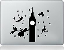 Peter Pan Big Ben Aufkleber Apple macbook Laptop Abziehbild Kunst Grafik Vinyl lustig Wandbild
