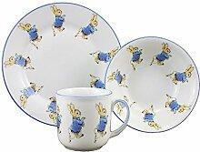 Peter Rabbit - 3 Piece Porcelain Dining Set - Mug,
