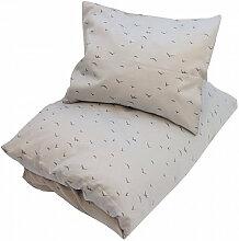 Petit by V Baby-Bettwäsche aus Bio-Baumwolle ´´Nordic´´ (70x100 / 40x45) in grau