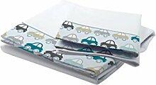 Petit Lazzari Bettwäsche Cars weiß/grün Wasser