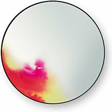 Petite Friture - FrancisWandspiegel small, rosa / gelb