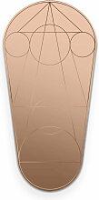 Petite Friture- Mask Spiegel, oval / bronze