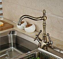 Petrichore Luxus Antik Messing Küche Wasserhahn Einhebel Arbeitsplatte Spüle Mischbatterie