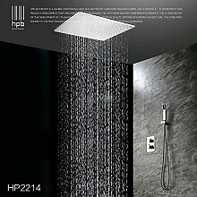 Petrichore Messingdeckenduschkopf Bad Wasserhahn Thermostat-Bad und regen Duscharmatur torneira