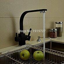 Petrichore Neue Osmosis 100% Kupfer Swivel Quadrat-Art-Wannen-Mischer-Trinkwasser-Küchenarmatur 3-Wege-Wasserfilter Tap