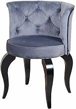 Petro Design Stuhl Luna Style Grey Samt Esszimmer