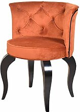 Petro Design Stuhl Luna Style Orange Samt