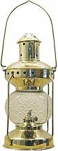 Petroleumlampe Lampe Messing, H: 31cm, Ø: 14cm