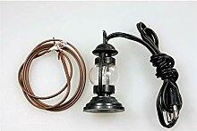 Petroleumlampe - Schwarz - Ideal für den