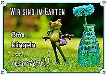 Petsigns Fun Schild - Gartenschild mit Frosch und