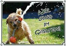 Petsigns Fun Schild - Gartenschild mit Hund und
