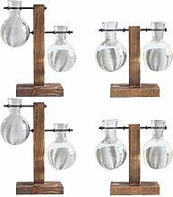 PETSOLA 4 Stück Desktop Glühbirne Vase Glas
